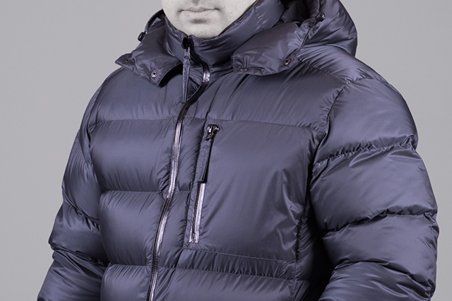 MALE down jackets and vests