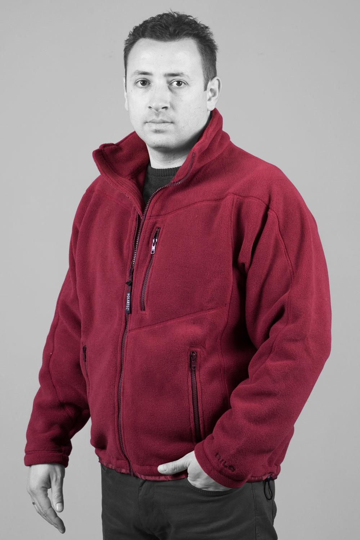Мъжко поларено яке 200, червено