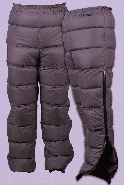 Пухен панталон Алпина, със странични ципове