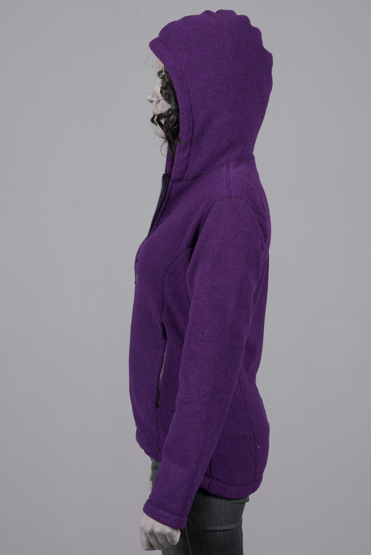 Дамско поларено яке Магнолия +, с качулка, лилаво
