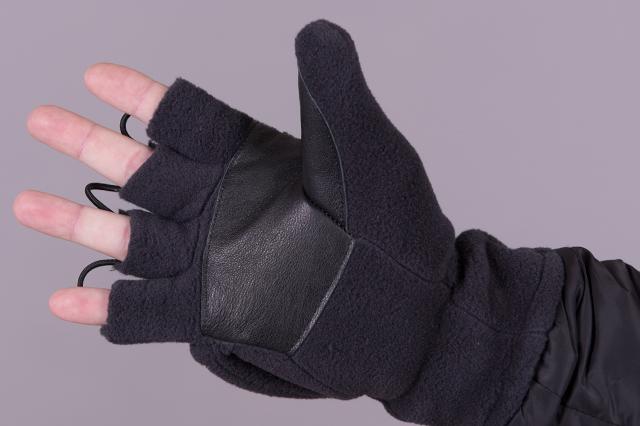 Поларена ръкавица с 4 рязани пръста и подвижна лапа, отвътре