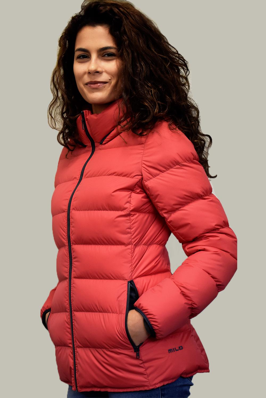 Дамско пухено яке Естрея, червено