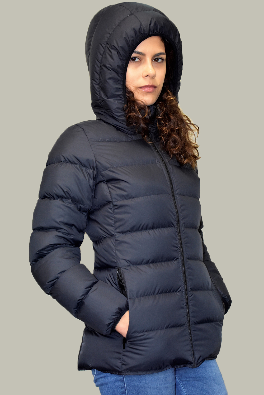Дамско пухено яке Естрея, черно
